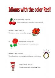 Idioms with the color red