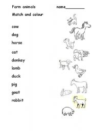 english teaching worksheets farm animals. Black Bedroom Furniture Sets. Home Design Ideas
