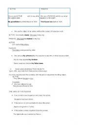 English worksheet: PASSIVE