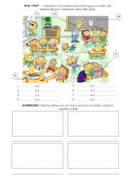 English Worksheets: This - That