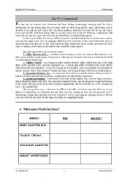 English Worksheet: The TV commercial