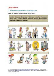 Worksheet B: A Humorous Presentation of Occupations/Jobs
