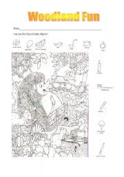 English Worksheets: Woodland Fun