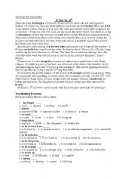 English Worksheets:    Friday the 13th