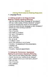 English Worksheets: request