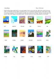 English Worksheets: Bingo Geography  Words