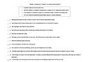 English Worksheets: Sentence Type - exercises