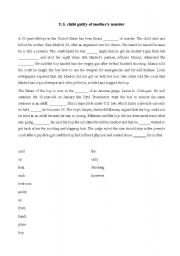 English Worksheets: US chilg guilty of mother´s murder