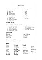 English Worksheets: ENGLISH  study sheet for beginers