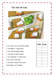 giving directions 1 esl worksheet by teach75. Black Bedroom Furniture Sets. Home Design Ideas