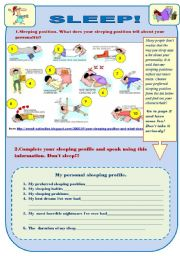 English Worksheet: SLEEP! -fun activity set
