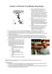 Printables American History Worksheets english teaching worksheets american history x assignments for the film level intermediate age 14 17 downloads 55
