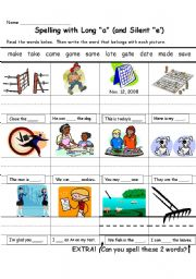 English Worksheets: Spelling with Long