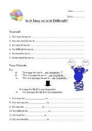 English Worksheets: Easy or Difficult?