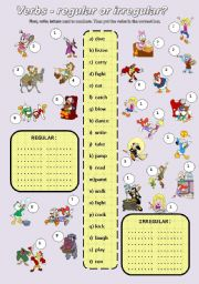 English Worksheet: VERBS - REGULAR or IRREGULAR?