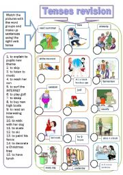 English Worksheet: tenses revision