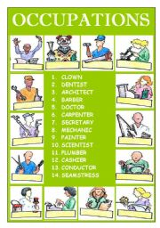 English Worksheets: OCCUPATIONS ( PART 2 )