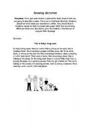 English Worksheet: Drawing dictation