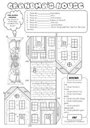 English Worksheet: Grandma´s House