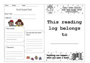 English Worksheet: Reading Log Part 1