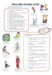 phrasal verbs & idioms: clothes