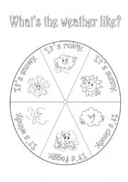 English Worksheet: Weather wheel