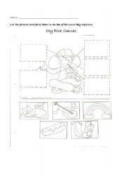 English Worksheets: My Five Senses !!