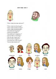 English Worksheets: information about peoples appearances (how they look)