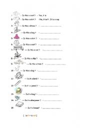 English Worksheets: is this a .. ?