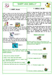 English Worksheets: A cat and a dog