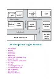 giving directions esl worksheet by entzu. Black Bedroom Furniture Sets. Home Design Ideas