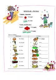 English Worksheets: Singular plural