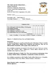 English Worksheets: Evaluation scale for assignments