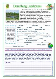English Worksheet: Describing a Landscape