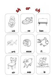 English Worksheets: sh or ch