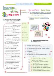 English Worksheet: INVERSION OF THE SUBJECT  -  1/2  - (after negative and restrictive expressions)