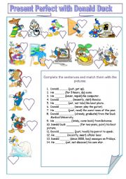 Present Perfect with Donald Duck