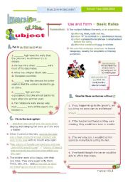 English Worksheet: INVERSION OF THE SUBJECT  -  2/2  - some other rules