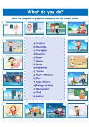 English Worksheets: PROFESSIONS/OCCUPATIONS