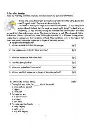English Worksheets: Eagles