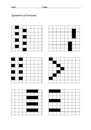 English Worksheets: Symmetrical Patterns