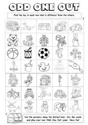 English Worksheets: Odd-One-Out (4/6)