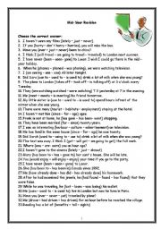 English Worksheet: Grammar Revision For Intermediate Students