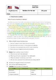English Worksheet: Rainforest