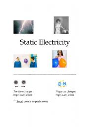 English Worksheet: Static Electricity review