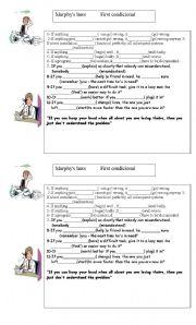 English Worksheet: MURPHY´S LAW