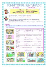 English Worksheet: Conditional Sentences ,type I