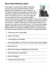 Barack Obama Elementry School - ESL worksheet by eng789