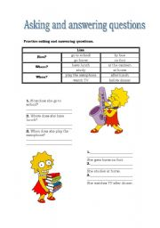 English Worksheets: Asking and answering questions