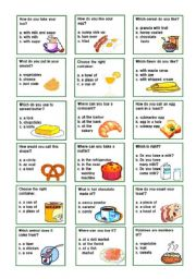 breakfast flash cards